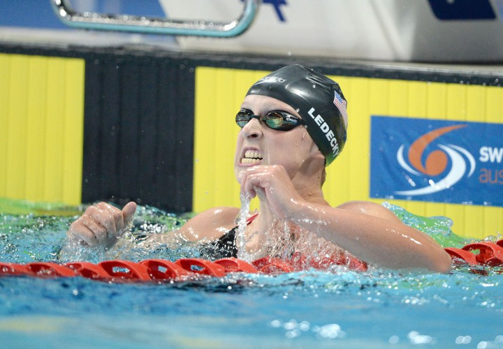 Katie Ledecky Blasts 807 Barrier With World Record in 800 Free in Austin