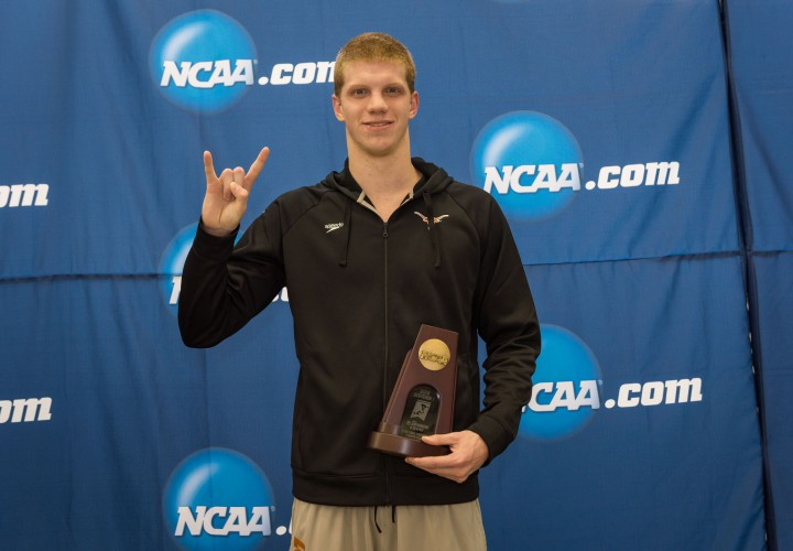 Townley Haas Named Mens Newcomer of the Year in Big 12 Postseason Honors Announcement