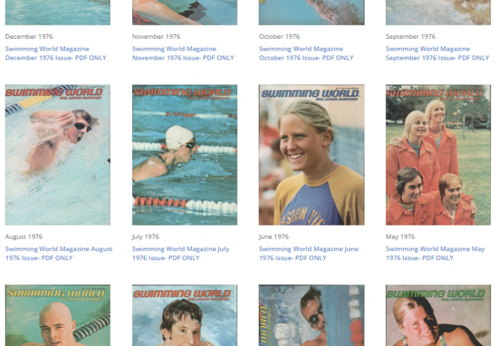 Swimming World Magazine Vault Is Now Open Back To the 60s And 70s