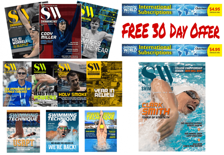 Go Paperless FREE 30Day Swimming World Magazine Subscription