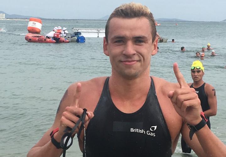 Jack Burnell Chelsea Gubecka Top 5K Events at Australian Open Water Championships