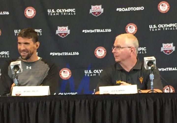 Video Interview Michael Phelps and Bob Bowman PreTrials Press Conference