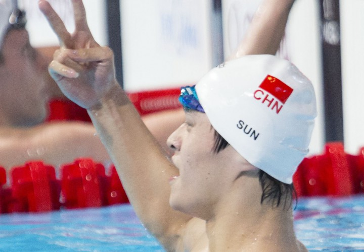 Sun Yang Vaults to 2nd in World Just Shy of US Open Record in 400 Free
