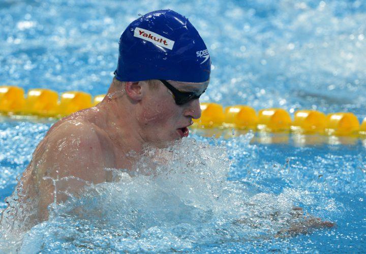 Adam Peatys 5808 Breaststroke Leg Keys GBR Win in Mens 400 Medley Relay