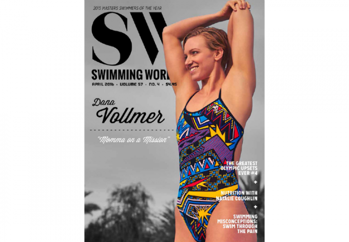 Dana Vollmer Featured On April Cover Of Swimming World Magazine