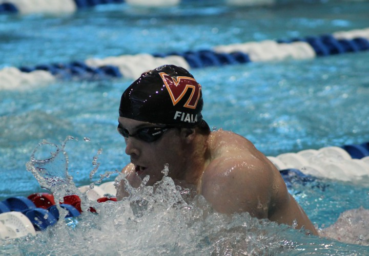 Fiala Breaks Meet Record During ACC Championship Prelims