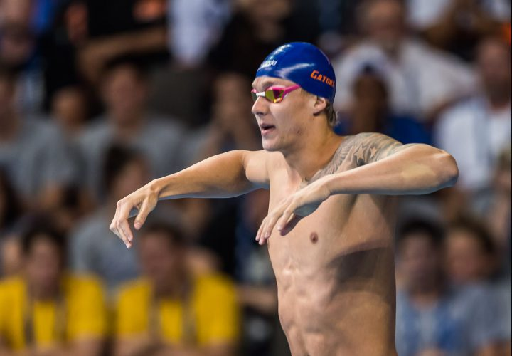 Caeleb Dressel Moves to 8th in World in 50 Freestyle Prelims