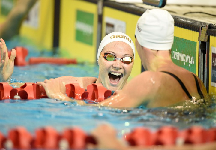 Cate and Bronte Campbell Emma McKeon Post 3 of Worlds Top 4 100 Freestyles