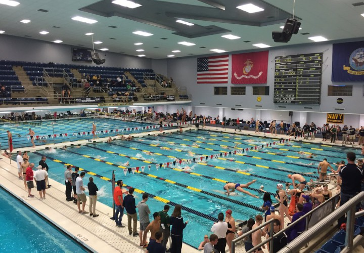 Five Records Fall as Virginia Navy Win ECAC Championships