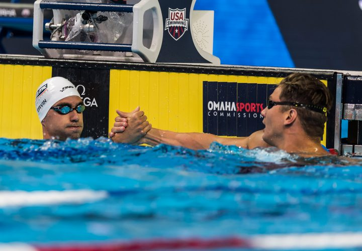 Nathan Adrian Anthony Ervin Splash and Dash To 50 Free Victory