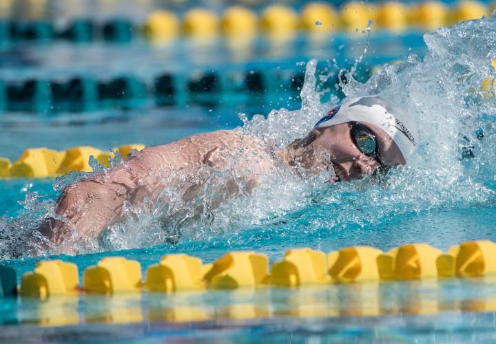Katie Ledecky Takes 200 Free Allison Schmitt Less Than a Second Behind
