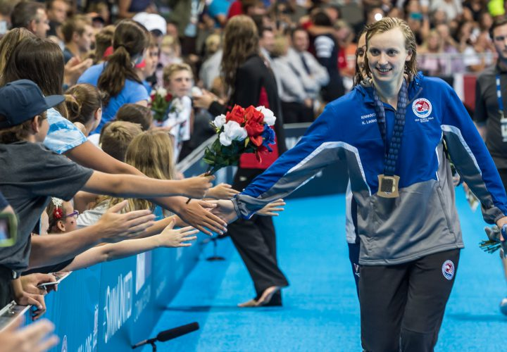 Press Conference Katie Ledecky Reflects on Mix of Veterans and Rookies on US Team