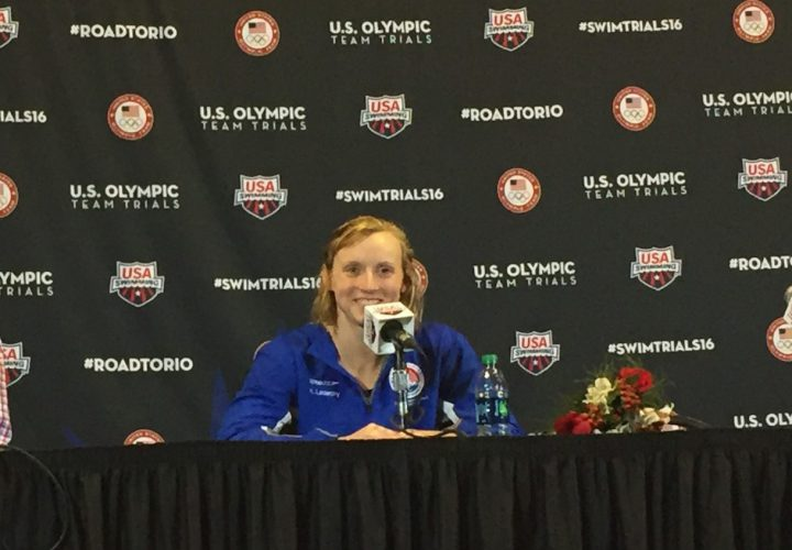 Press Conference Ledecky Took Care of Business This Week in Omaha