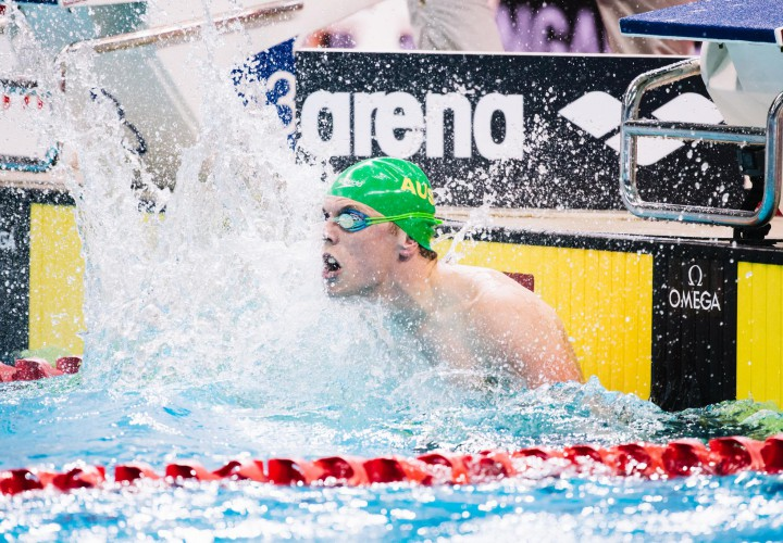 Kyle Chalmers Breaks Australian Age Group Mark in 50 Free