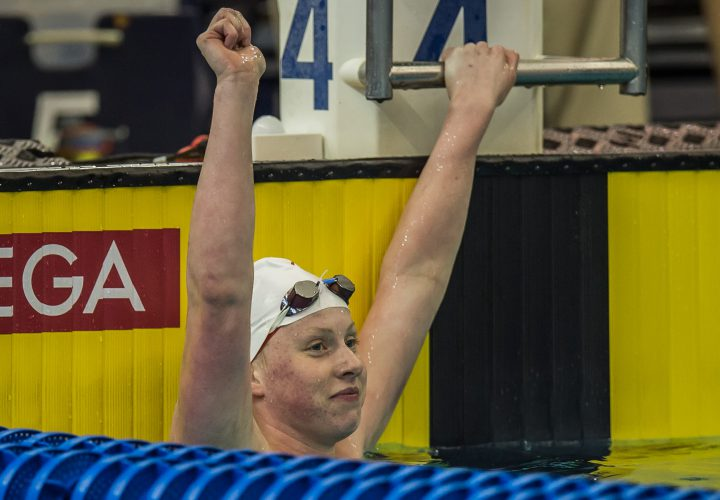 Lilly King Cranks Out New Pool and Meet Record In 50 Breast Moves To Second In World Rankings