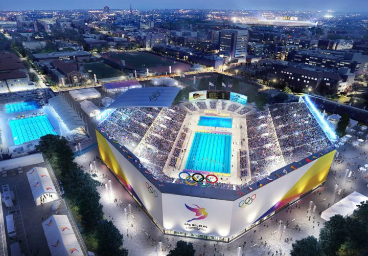 Los Angeles 2024 Committee Releases Artistic Renderings of Aquatic Center and Coliseum