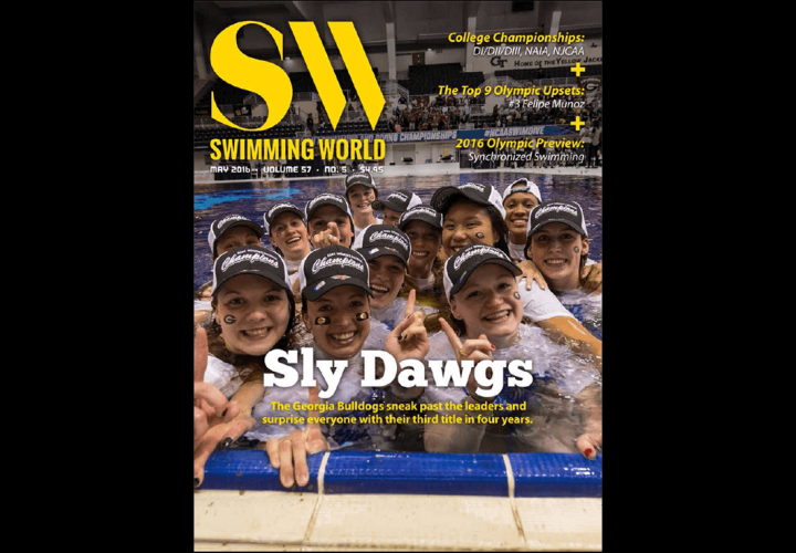 Swimming World Magazine Features Georgias Lady Bulldogs On May 2016 Cover Download Now