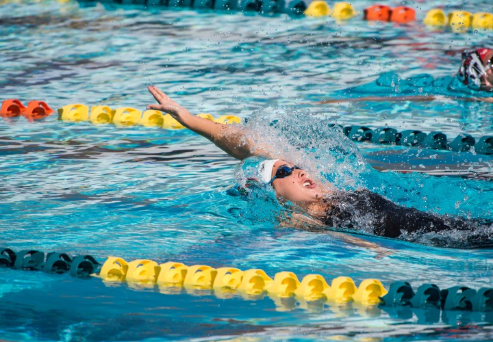 Maya Dirado Out Touches Kirsty Coventry For Mesa 100 Back Crown