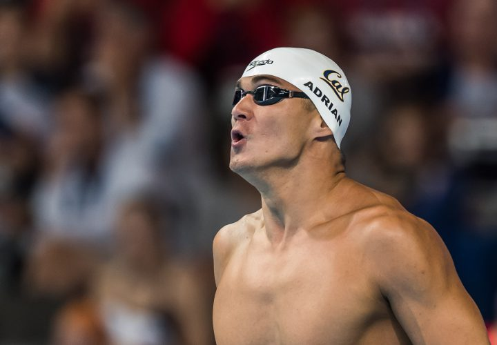 Nathan Adrian Vaults to 2nd in World in 100 Free Semifinal