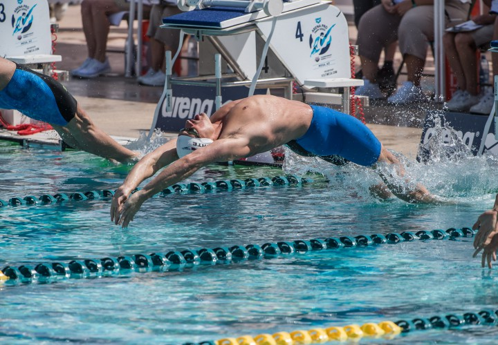 Ryan Lochte First To The Wall In 200 Backstroke In Mesa
