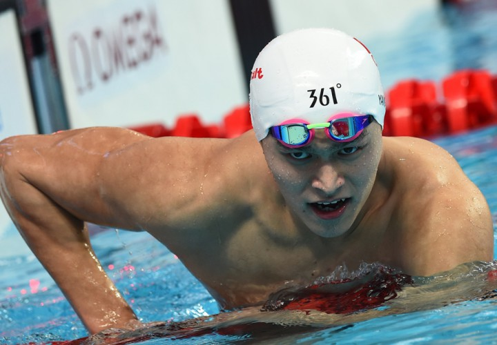 Sun Yang Vaults to Top of 200 Free World Rankings Conor Dwyer Now Third