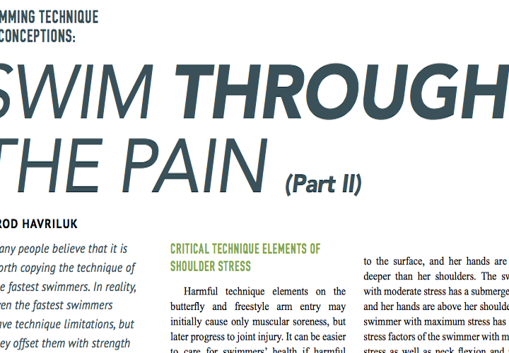 Swimming World Presents Swimming Technique Misconceptions Swim Through The Pain Part II