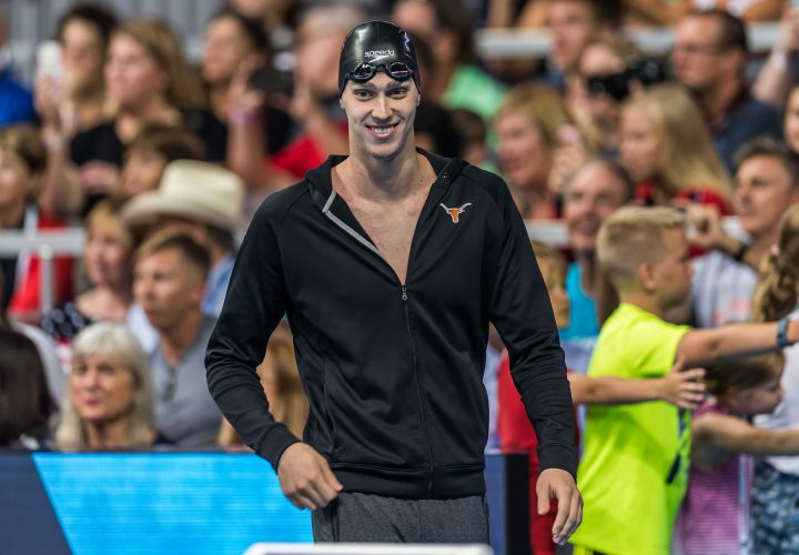 USA Swimming Trials Day 8 Finals Heat Sheets Clark Smith Drops the 1500
