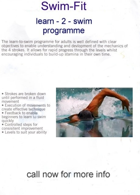 (2:1 two student/one teacher) 10 x 60 min learn to swim, full course